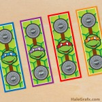 FREE Printable Ninja Turtles Bookmarks