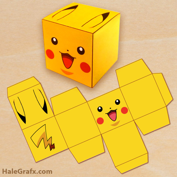 picture about Printable Box known as Totally free Printable Pokémon Pikachu Deal with Box