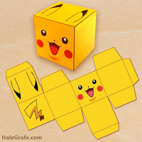 Printable pokmon pikachu treat box free printable pokmon pikachu treat box pronofoot35fo Gallery