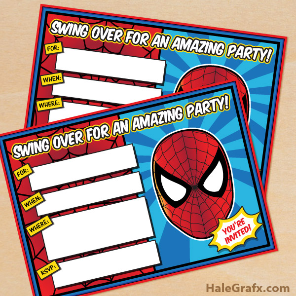 Free printable spider man birthday invitation stopboris