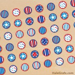 FREE Printable July 4th Hershey's Kisses Stickers