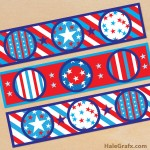FREE Printable Water Bottle Labels for 4th of July