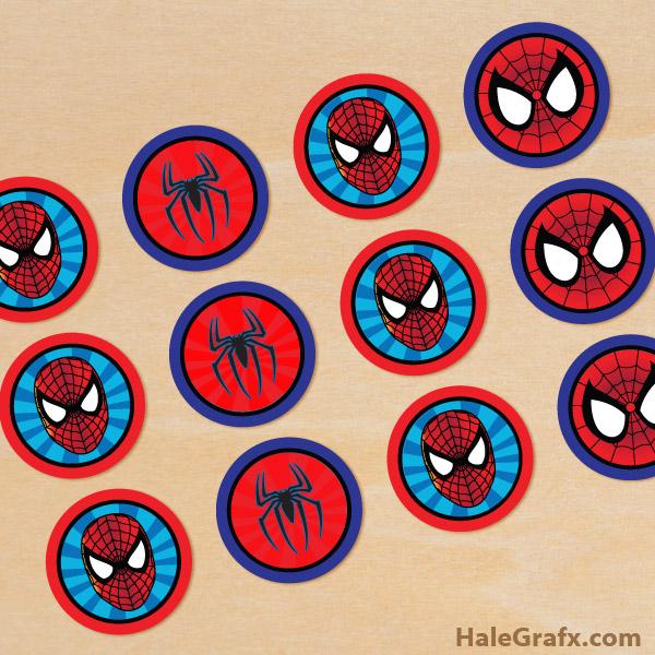 FREE Printable Spiderman Cupcake Toppers