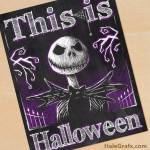 FREE Printable Halloween Jack Skellington Chalkboard Art