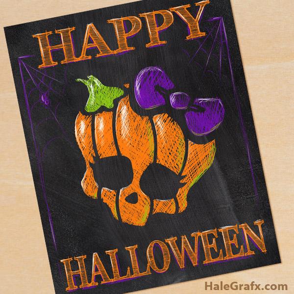 FREE Printable Halloween Monster High Chalkboard Art