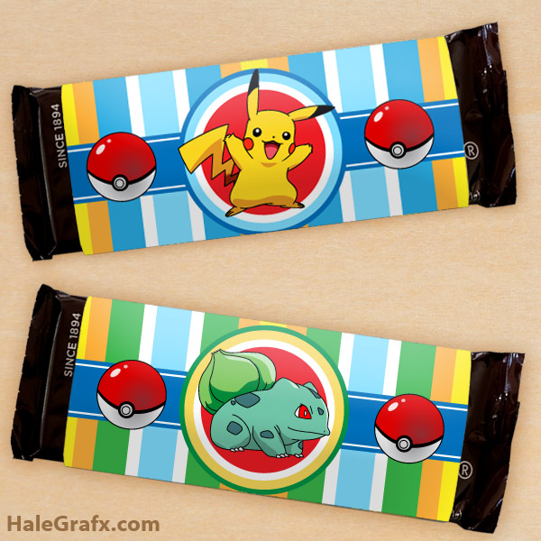 image about Free Printable Hershey Bar Wrappers identify Totally free Printable Pokémon Sweet Bar Wrappers