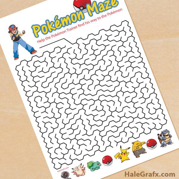 FREE Printable Pokémon Maze