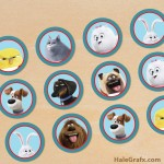 FREE Printable Secret Life of Pets Cupcake Toppers