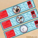 FREE Printable Secret Life of Pets Water Bottle Labels
