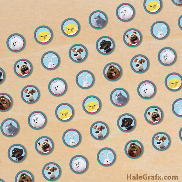 FREE Printable Secret Life of Pets Hershey's Kisses Stickers