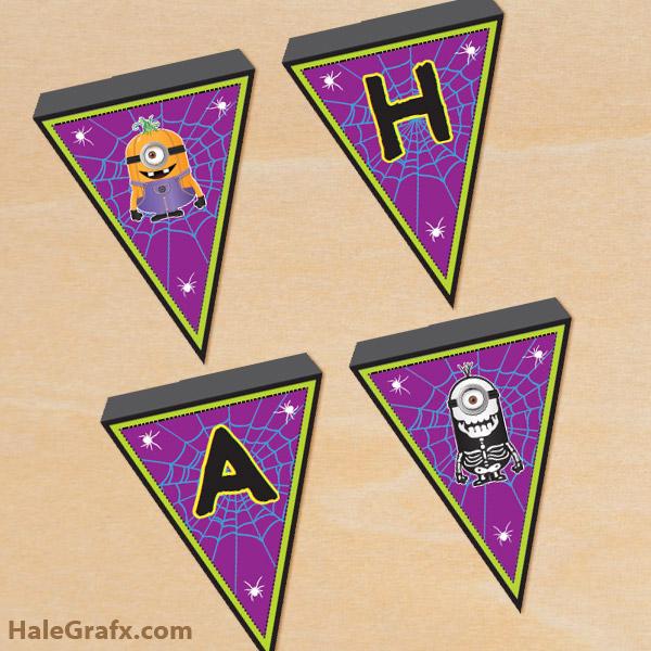 FREE Printable Halloween Minions Banner