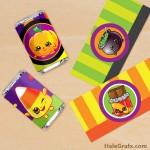 FREE Printable Halloween Shopkins Mini Candy Bar Wrappers