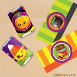 FREE Printable Halloween Shopkins Mini Candy Bar Wrappers