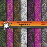 FREE Halloween Spiderwebs Digital Paper Pack