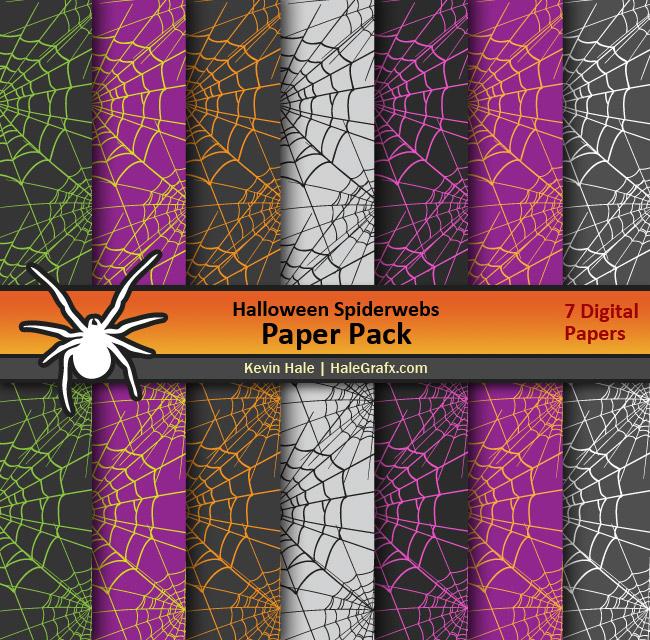 FREE Halloween Spiderwebs Digital Paper Pack