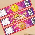 Free Printable Sailor Moon Water Bottle Labels