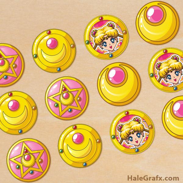 FREE Printable Sailor Moon Cupcake Toppers