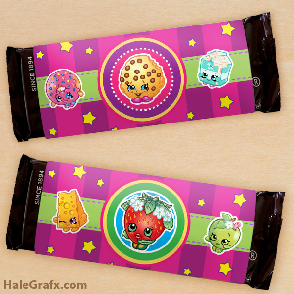 FREE Printable Shopkins Candy Bar Wrappers