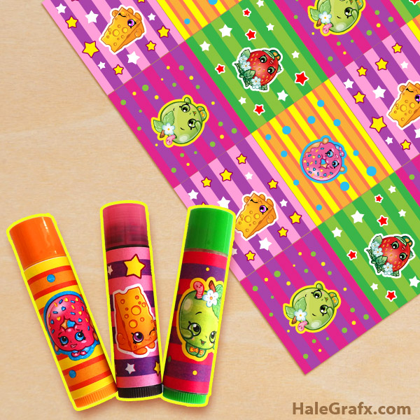photo relating to Printable Shopkins List named Totally free Printable Shopkins ChapStick Labels