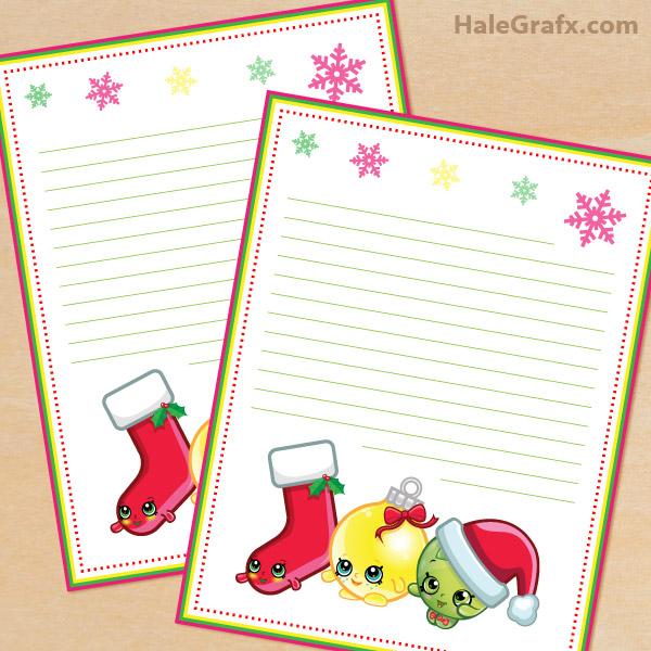 FREE Printable Shopkins themed Stationery