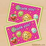 FREE Printable Shopkins Thank You Card