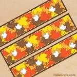 FREE Printable Autumn Water Bottle Labels