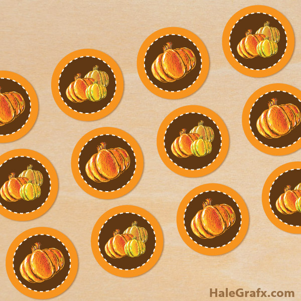 FREE Printable Autumn Pumpkin Cupcake or Muffin Toppers