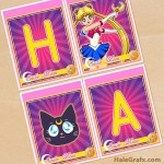 FREE Printable Sailor Moon Birthday Banner