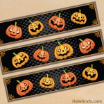 FREE Printable Goofy Halloween Pumpkin Water Bottle Labels