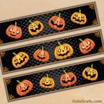FREE Printable Goofy Halloween Pumpkin Water Bottle Labels