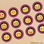 FREE Printable Halloween Emoji Cupcake Toppers