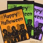 FREE Printable Halloween LEGO Zombie Posters