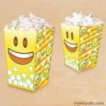 FREE Printable Emoji Popcorn Box