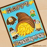 FREE Printable Thanksgiving Minions Poster