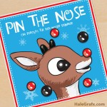 FREE Printable Christmas Pin the Nose on Rudolph