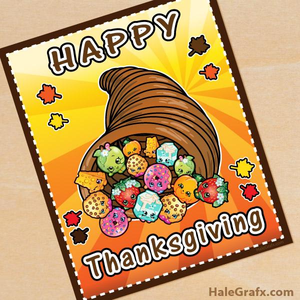 FREE Printable Thanksgiving Shopkins Poster