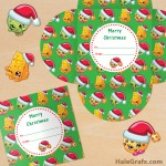 FREE Printable Christmas Shopkins Gift Card Holder
