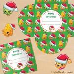 FREE Printable Christmas Shopkins Gift Card Holder