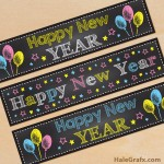 FREE Printable Chalk New Year Water Bottle Labels
