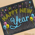 FREE Printable Chalk New Year Poster
