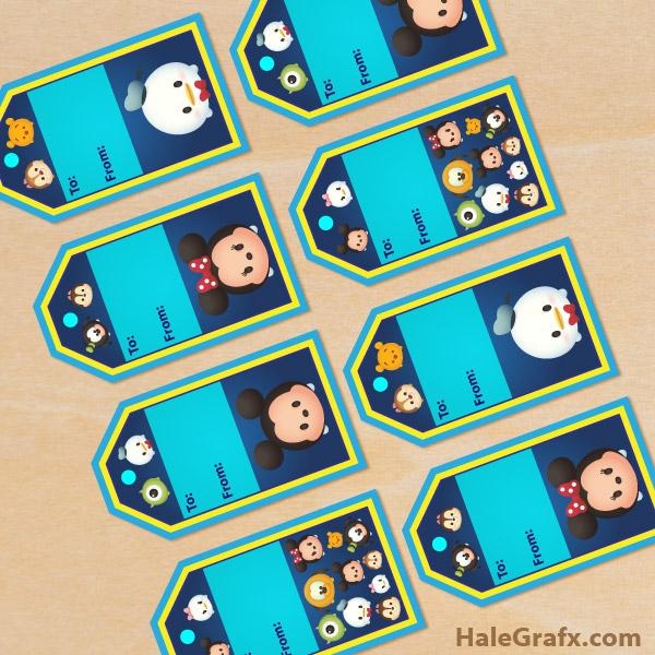 FREE Printable Tsum Tsum Gift Tags