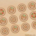 FREE Printable Christmas Hello Kitty Gingerbread Cupcake Toppers