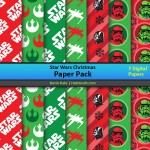 FREE Star Wars Christmas Digital Paper Pack