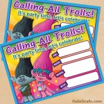 FREE Printable Trolls Movie Birthday Invitation