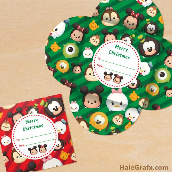 FREE Printable Christmas Tsum Tsum Gift Card Holder