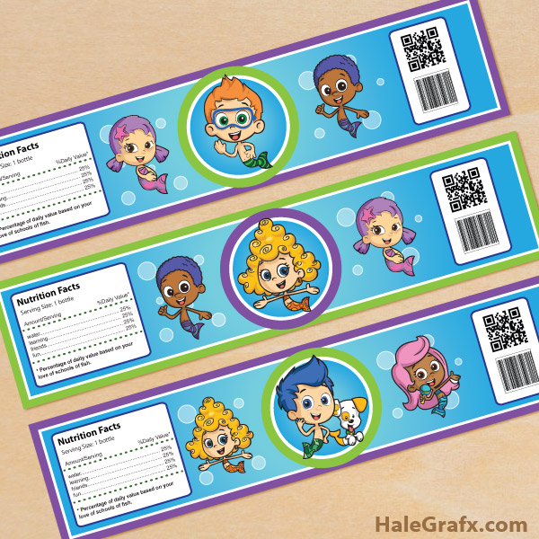 image about Bubble Guppies Printable named No cost Printable Bubble Guppies Drinking water Bottle Labels