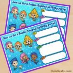 FREE Printable Bubble Guppies Movie Birthday Invitation
