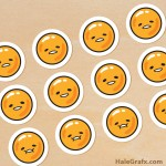 FREE Printable Gudetama Cupcake Toppers