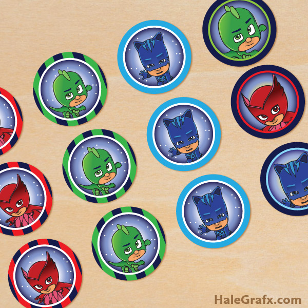 photo relating to Printable Cupcakes Toppers named Totally free Printable PJ Masks Cupcake Toppers