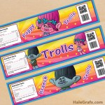 Free Printable Trolls Water Bottle Labels